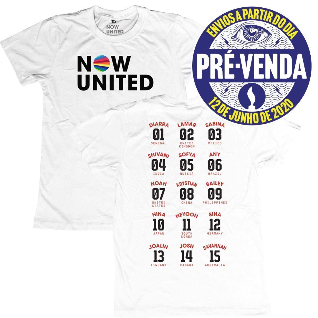 Now United - Classic Logo [Camiseta Branca] [Pré-Venda]