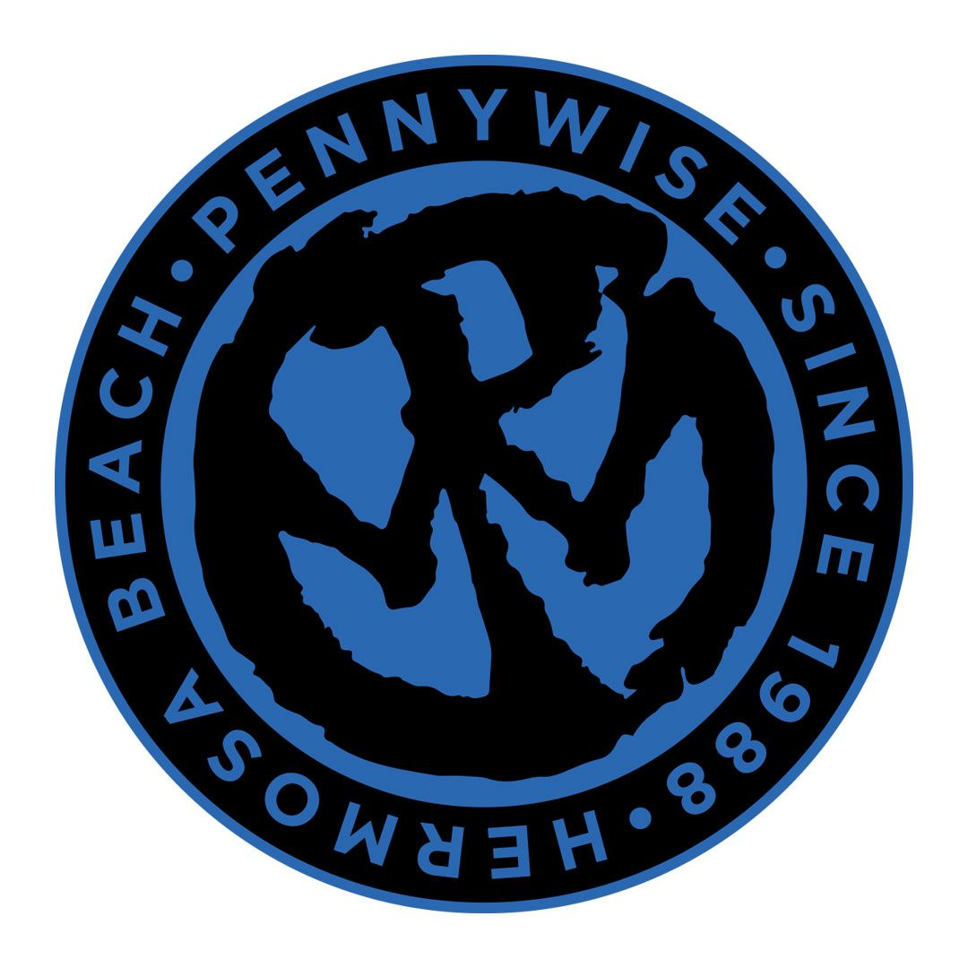 Pennywise - Blue Logo [Adesivo]