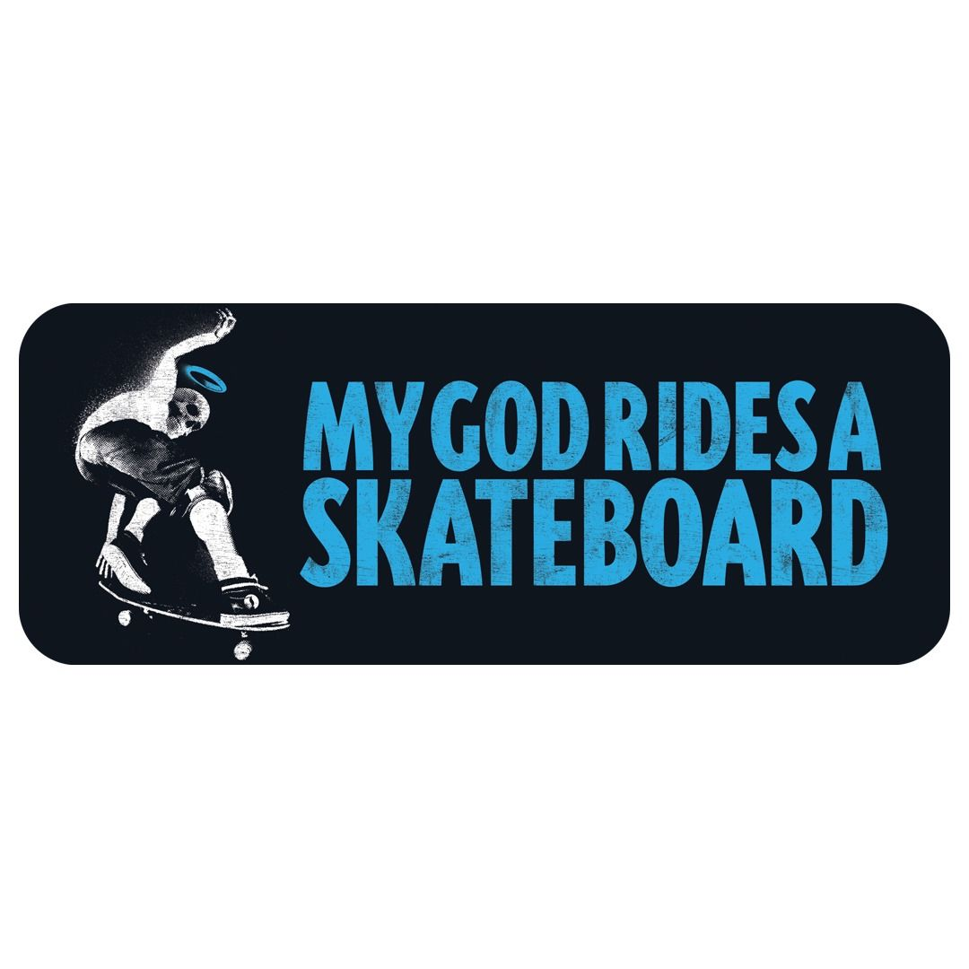 Highlight Sounds - My God Rides A Skateboard [Adesivo]