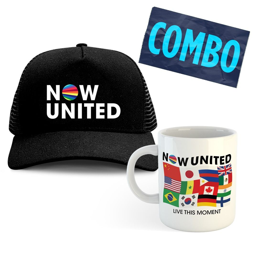 Combo: Now United - Trucker Hat + Caneca Live This Moment