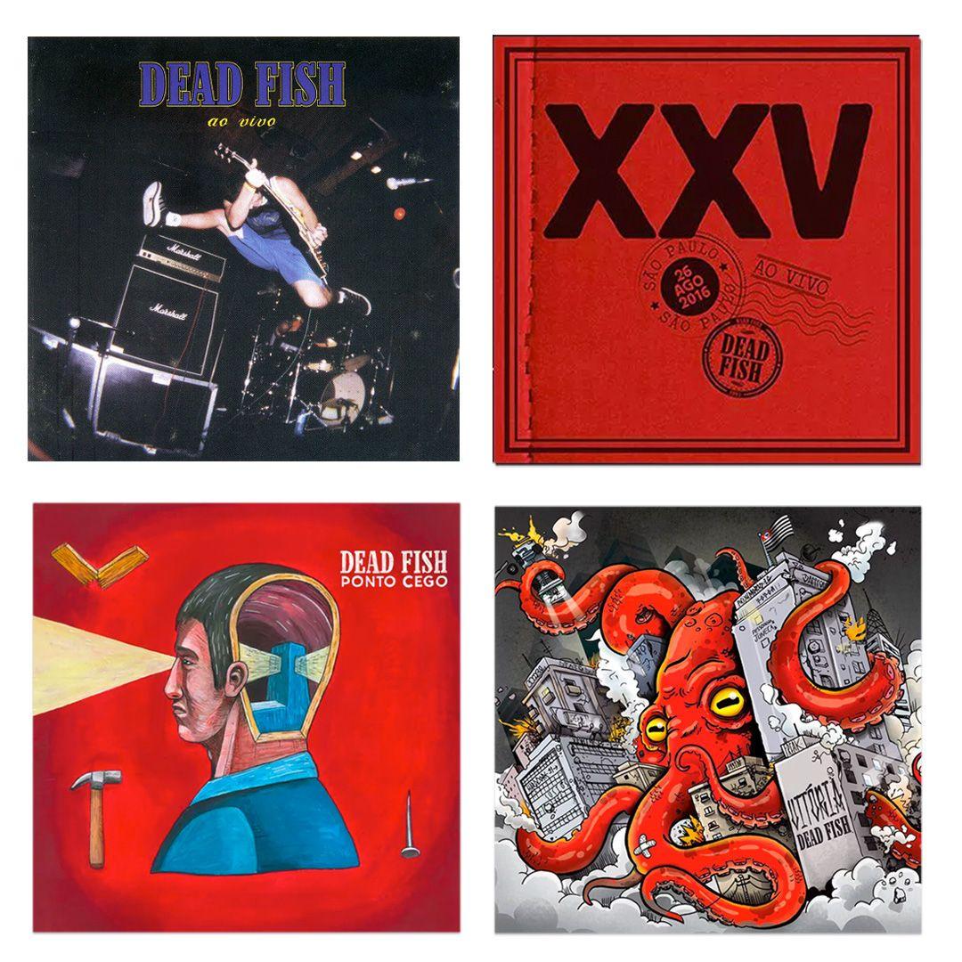 Combo: Dead Fish - Ao Vivo + XXV Ao Vivo + Vitória + Ponto Cego