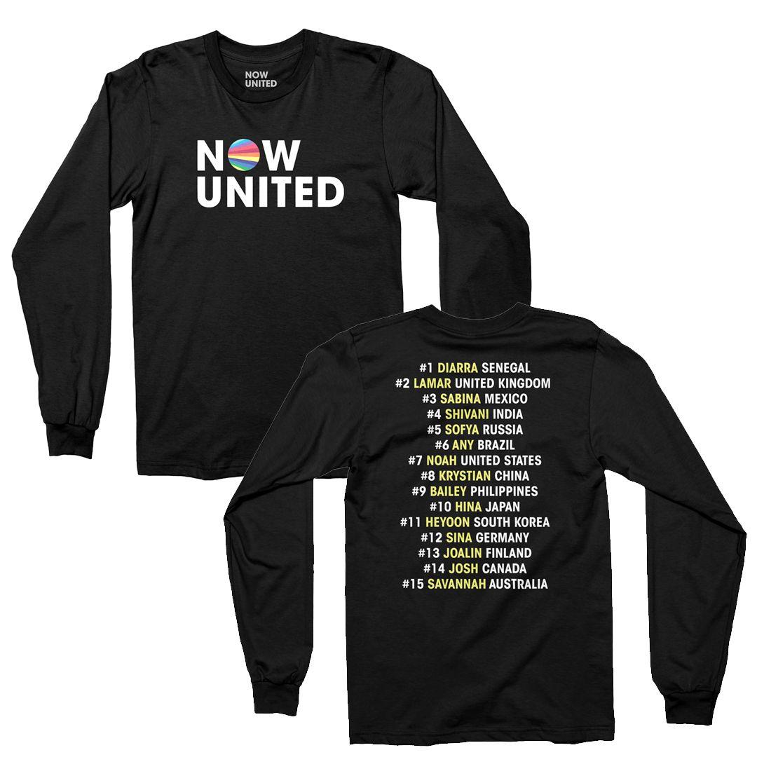 Now United - Classic Logo [Camiseta Manga Longa Preta]