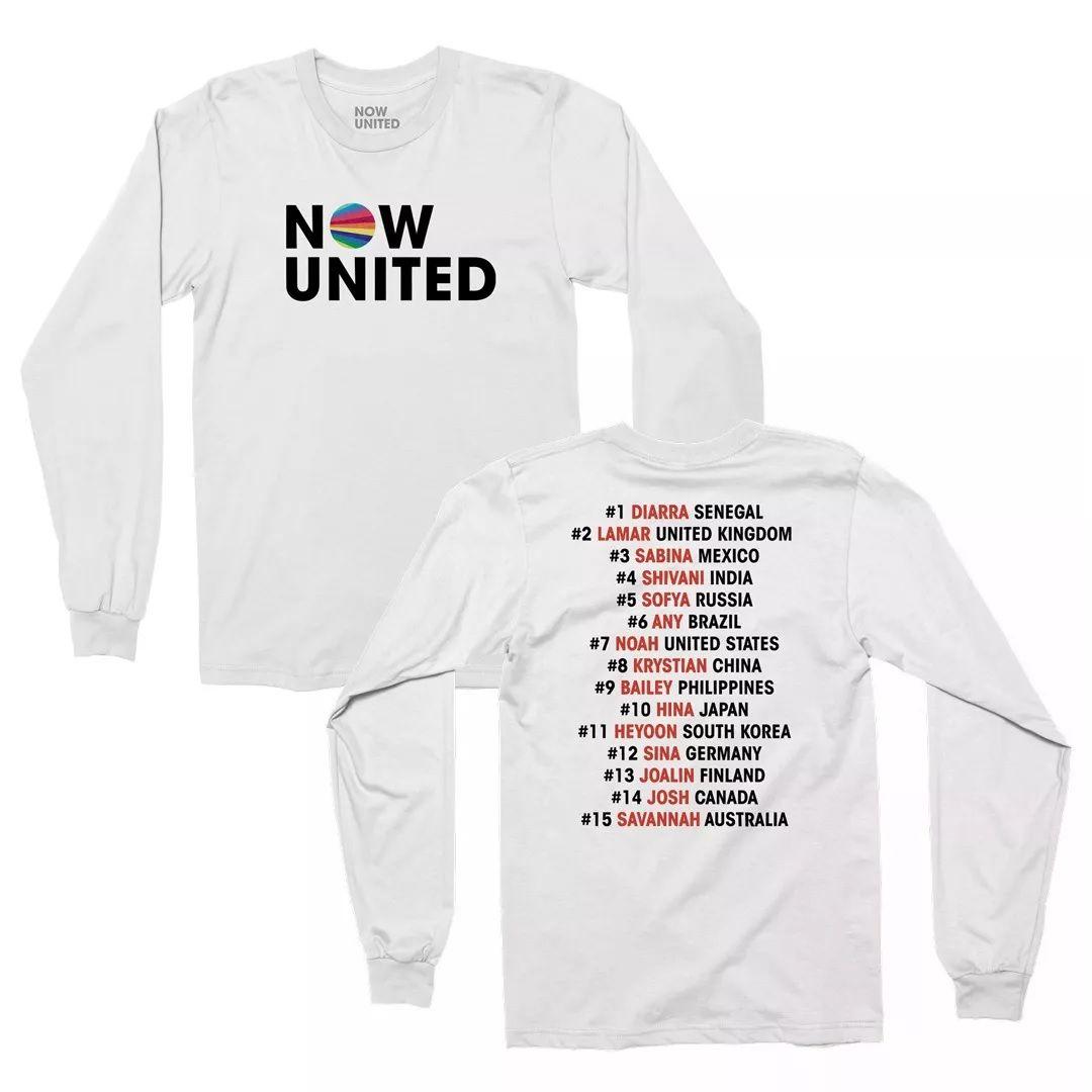 Now United - Classic Logo [Camiseta Manga Longa Branca]