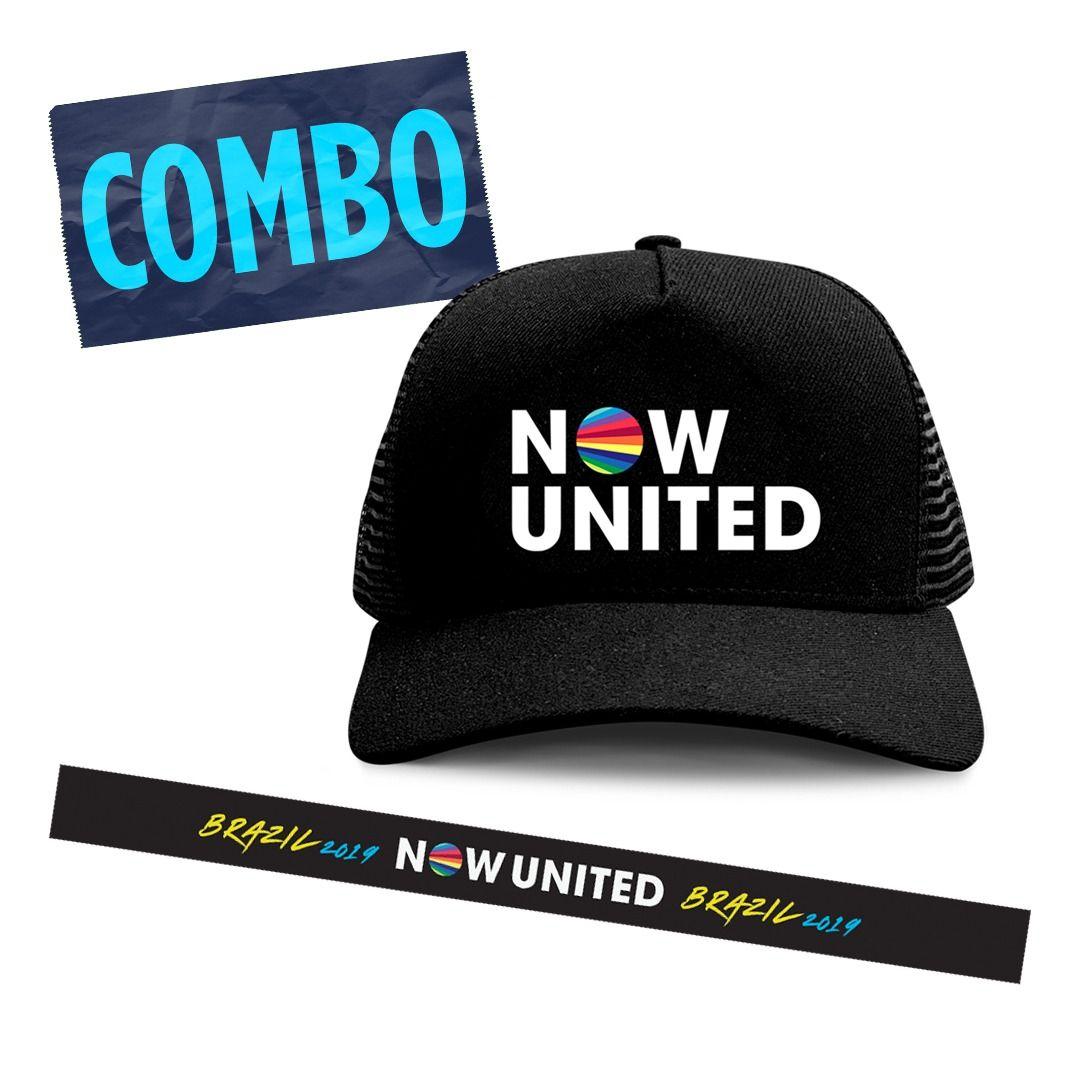 Combo: Now United - Trucker Hat + Faixa de Cabeça
