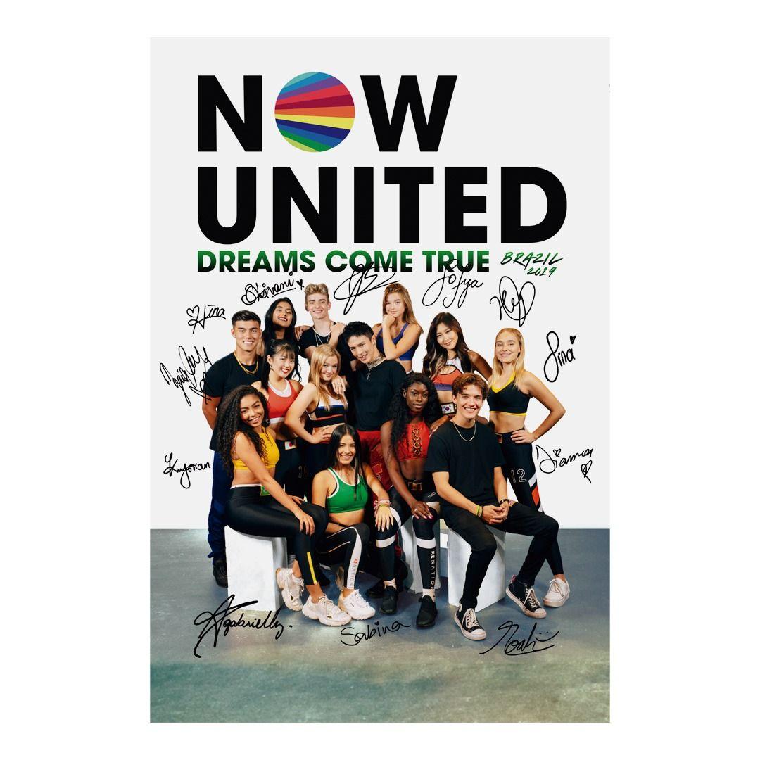 Now United - Dreams Come True Brazil 2019 [Pôster Autografado c/ Tubo]