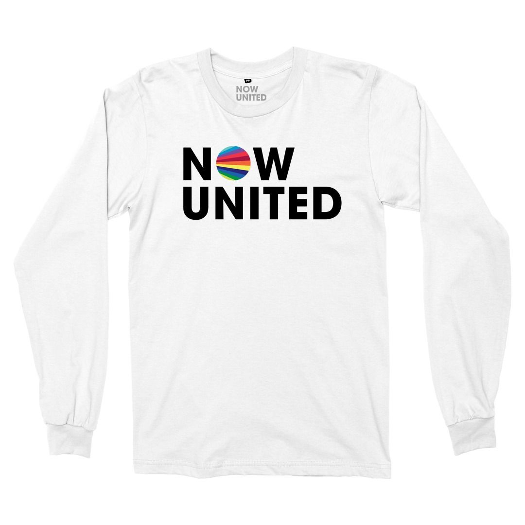 Now United - Logo [Camiseta Manga Longa Branca]