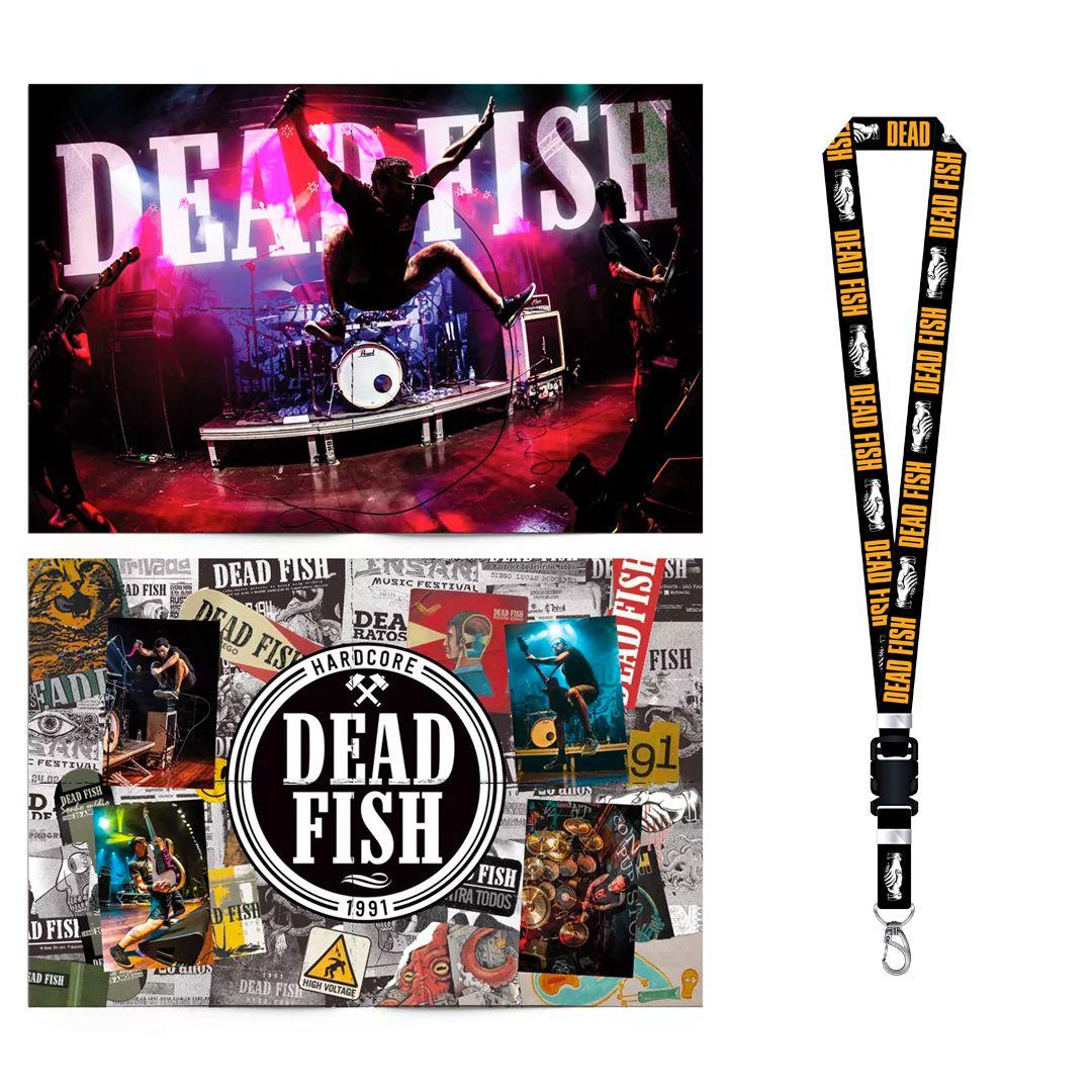 Combo: Dead Fish - Cordão Sangue Nas Mãos + Pôster 30 Anos