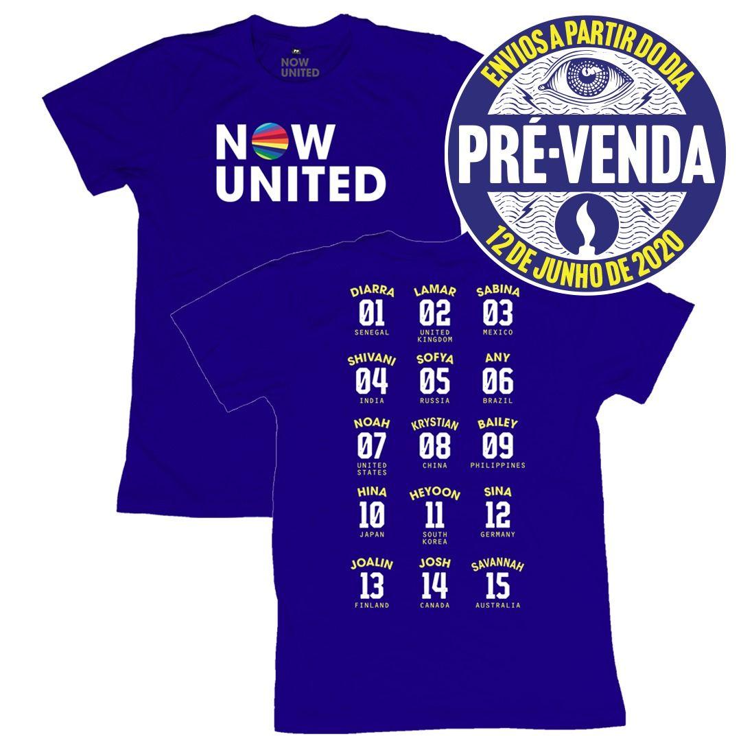 Now United - Classic Logo [Camiseta Azul] [Pré-Venda]