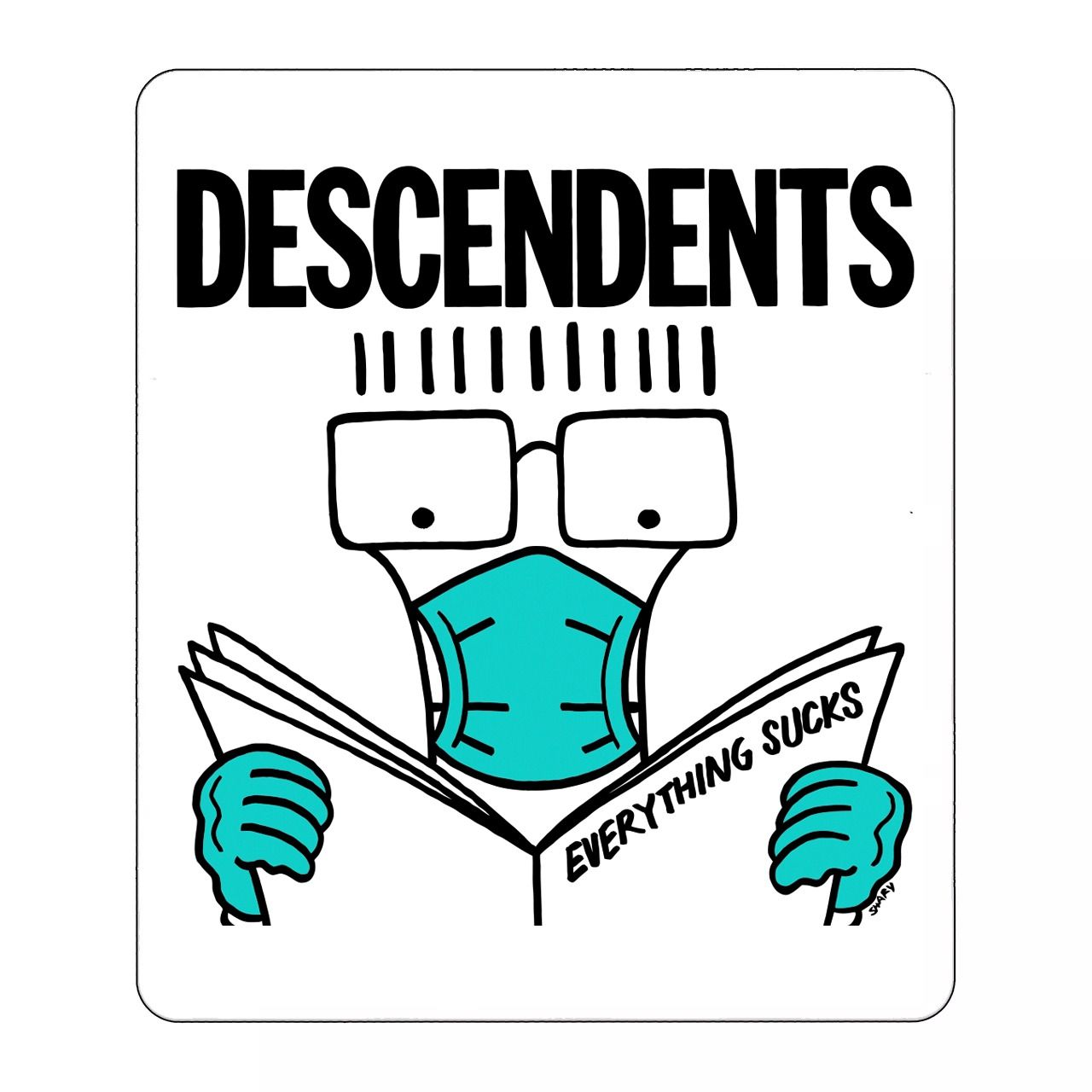 Descendents - Everything Sucks Face Mask [Adesivo]