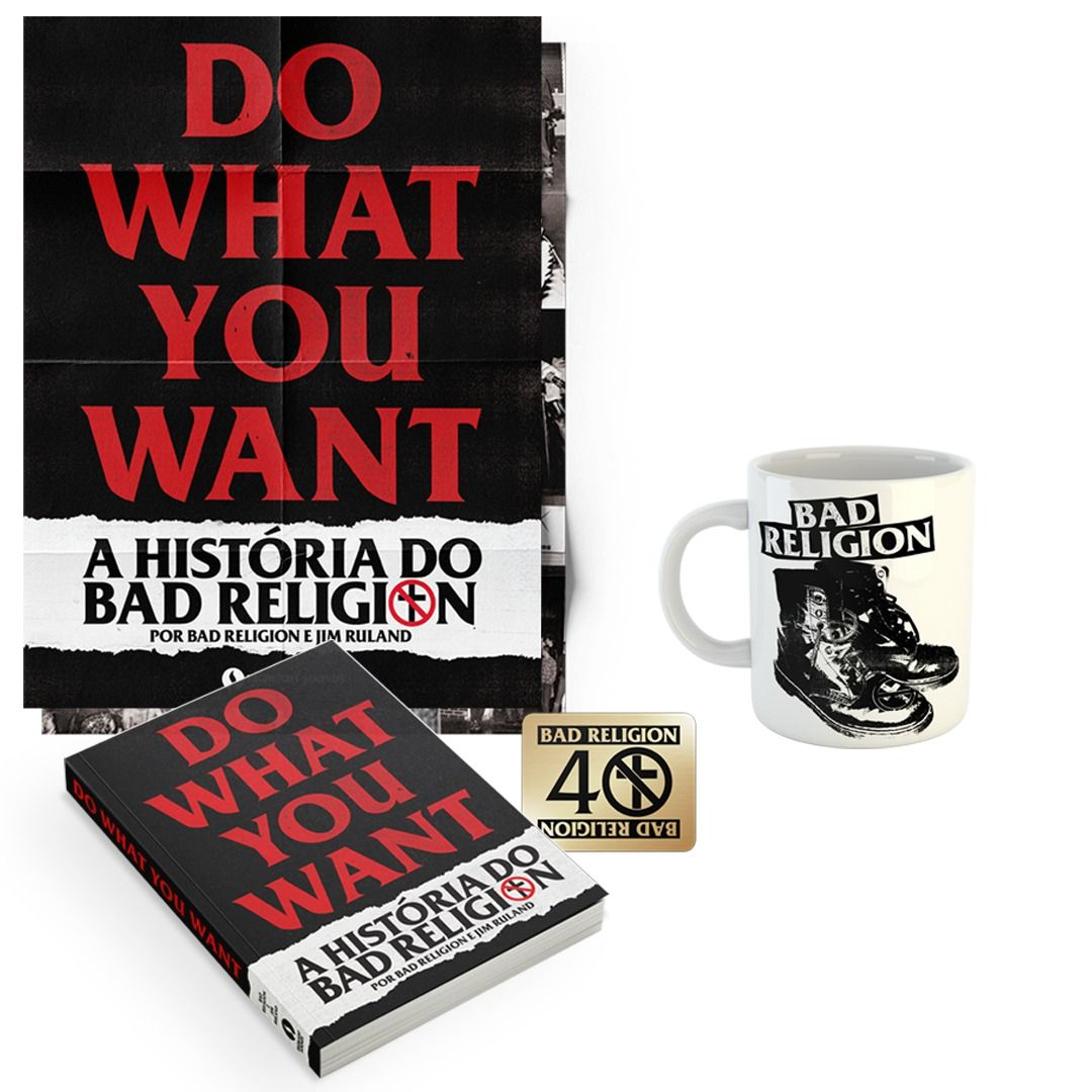 Combo: Bad Religion - Do What You Want - A História do Bad Religion + Caneca Up The Punx