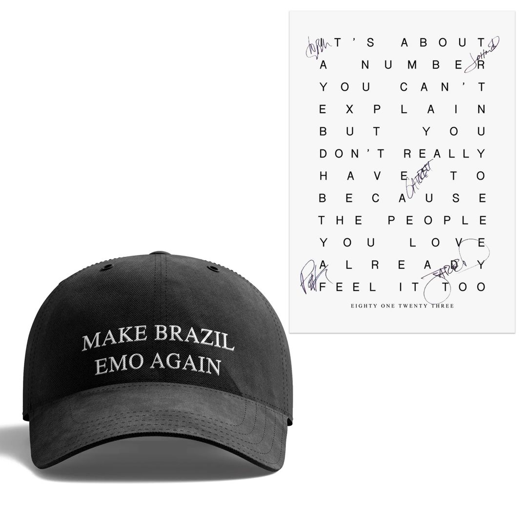 The Maine - Make Brazil Emo Again [Boné] + Pôster Autografado