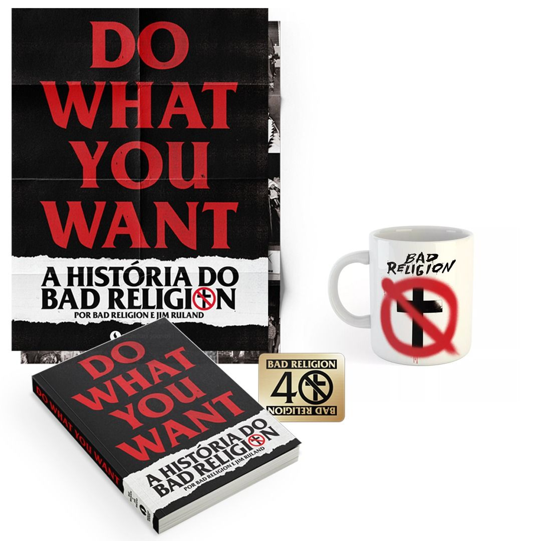 Combo: Bad Religion - Do What You Want - A História do Bad Religion + Caneca Spray Buster