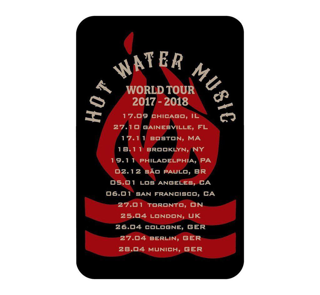 Hot Water Music - World Tour 2017-2018 [Adesivo]