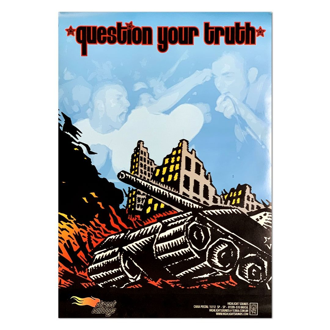 Street Bulldogs - Question Your Truth [Pôster s/ Tubo]