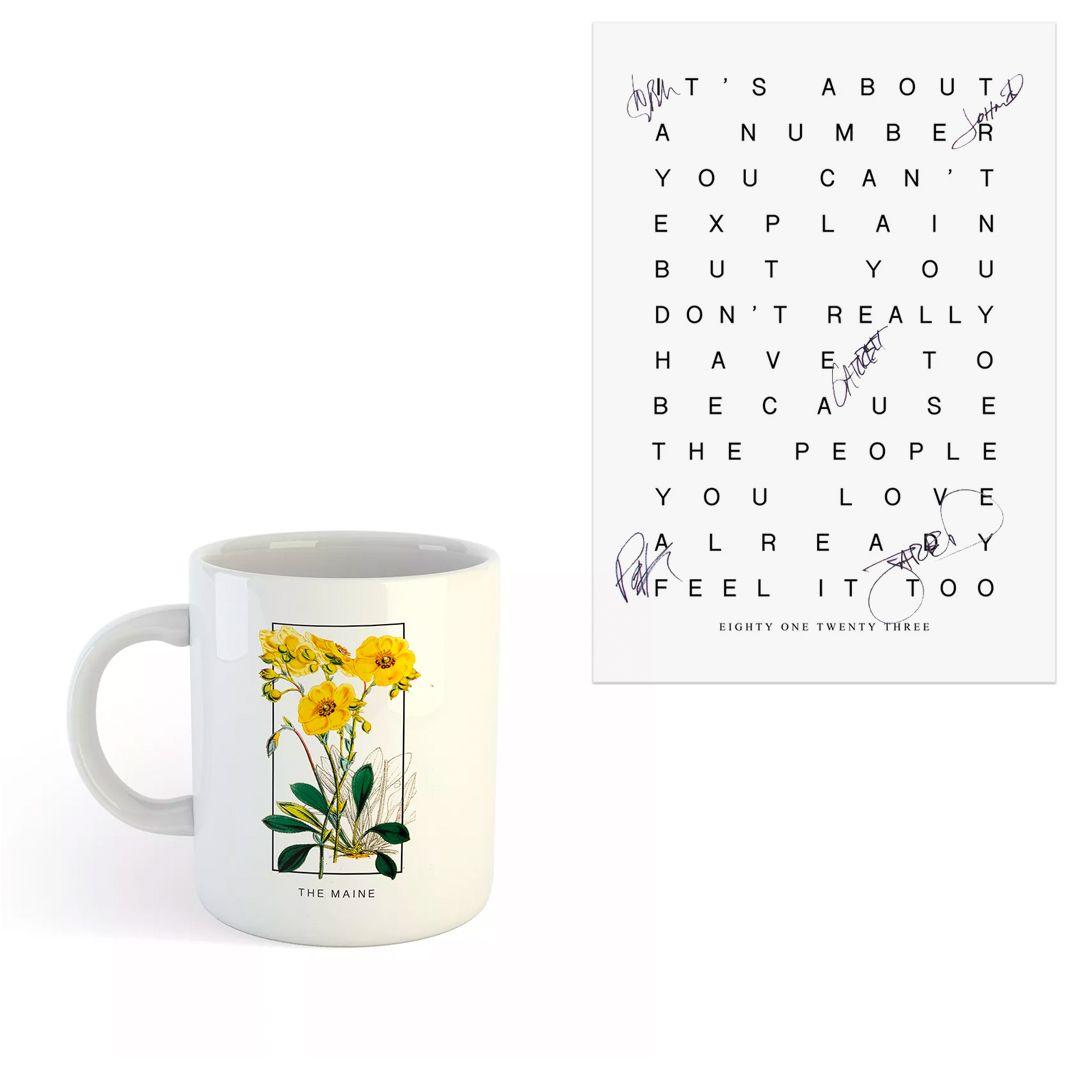 The Maine - Flower Mirror [Caneca] + Pôster Autografado