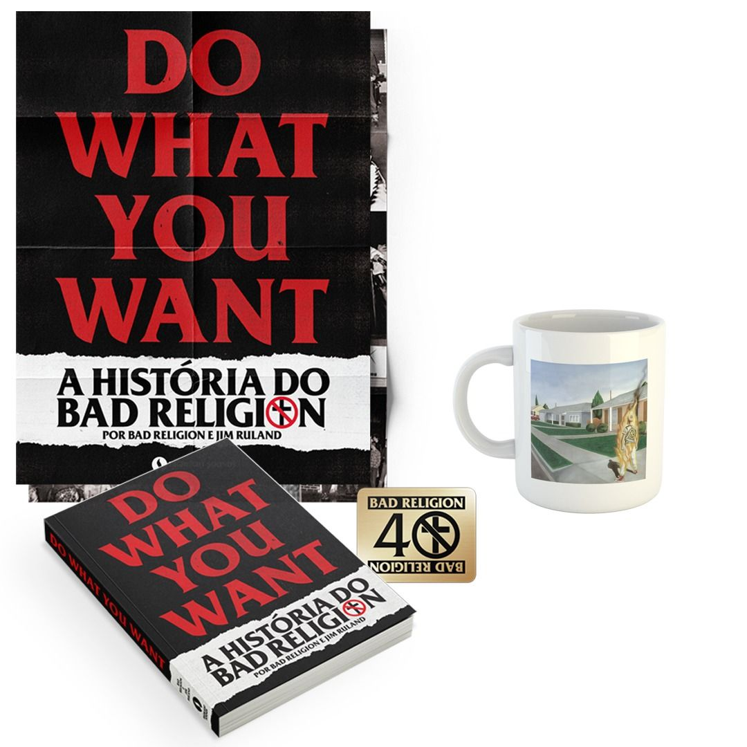 Combo: Bad Religion - Do What You Want - A História do Bad Religion + Caneca Suffer
