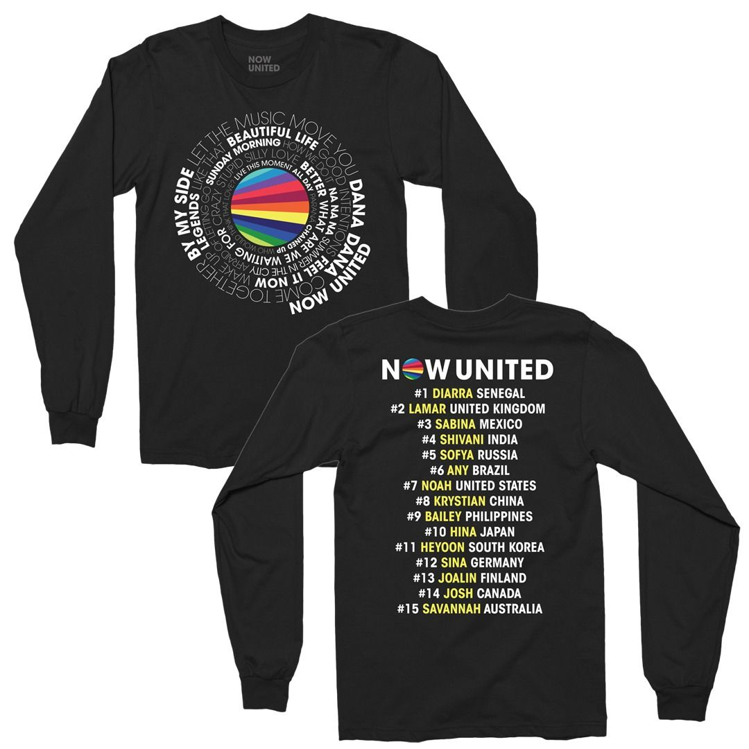 Now United - Song List [Camiseta Manga Longa]