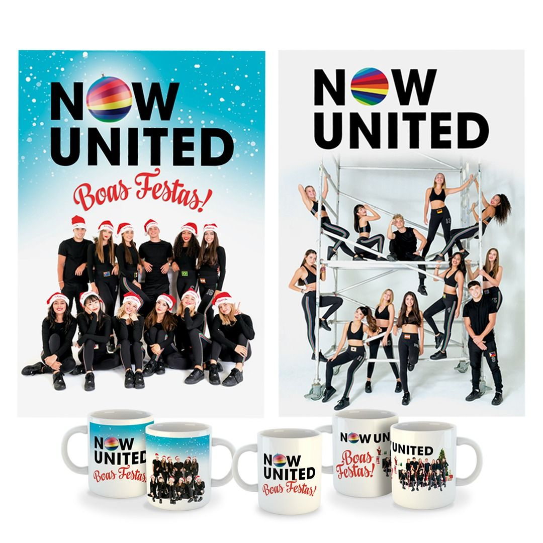 Kit: Now United - United Christmas [Pôster com Tubo + Canecas]