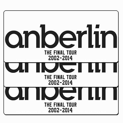 Anberlin - The Final World Tour - 3X Adesivos
