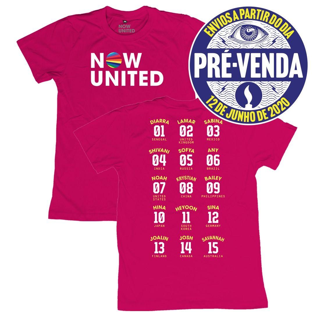 Now United - Classic Logo [Camiseta Rosa] [Pré-Venda]