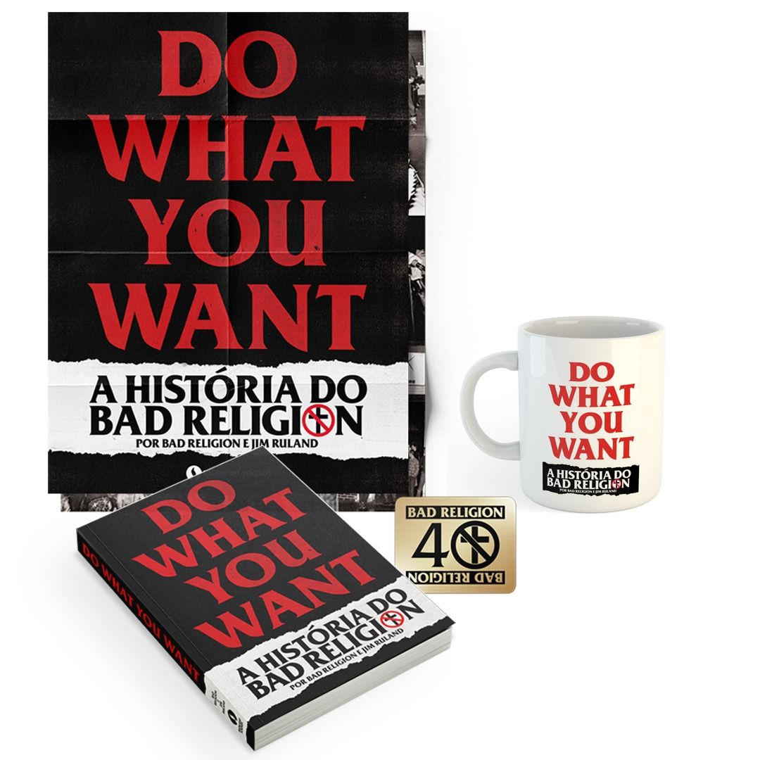 Combo: Bad Religion - Do What You Want - A História do Bad Religion + Caneca