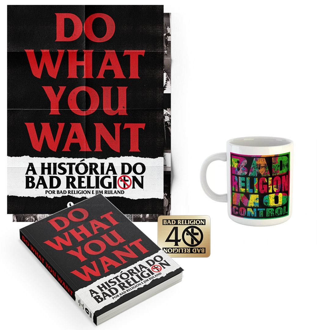 Combo: Bad Religion - Do What You Want - A História do Bad Religion + Caneca No Control