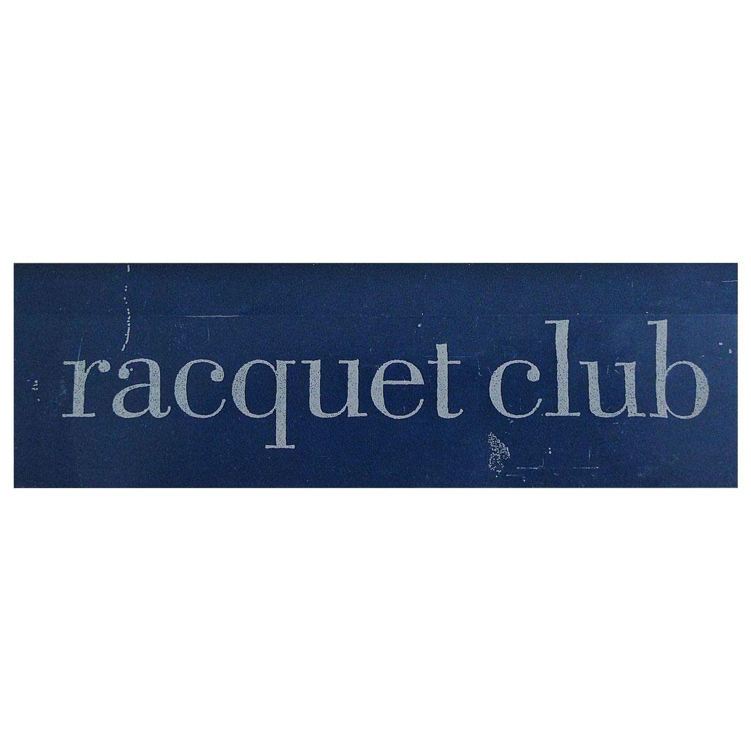 Racquet Club - Worn Logo [Adesivo Importado]