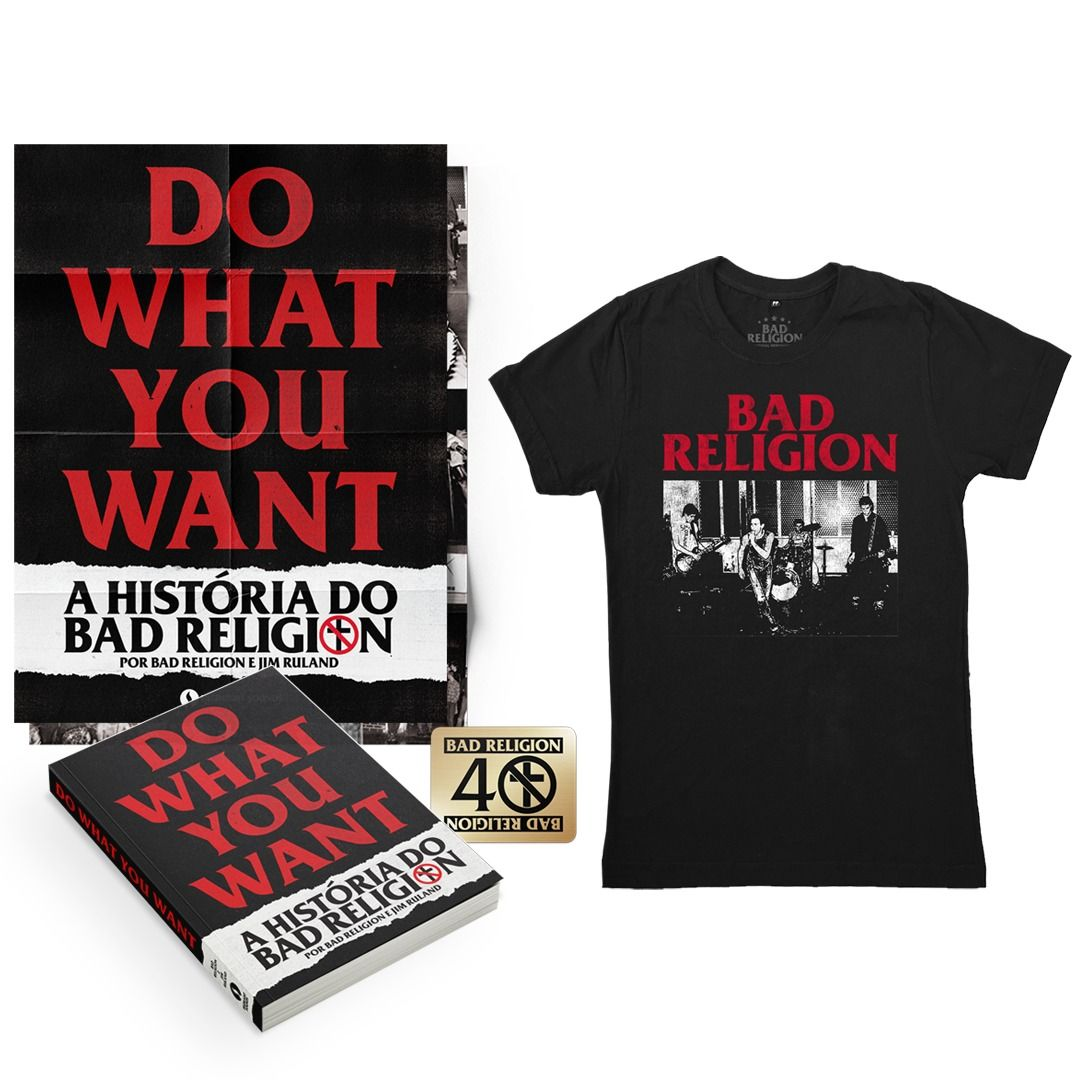 Combo: Bad Religion - Do What You Want - A História do Bad Religion + Camiseta Live 1980