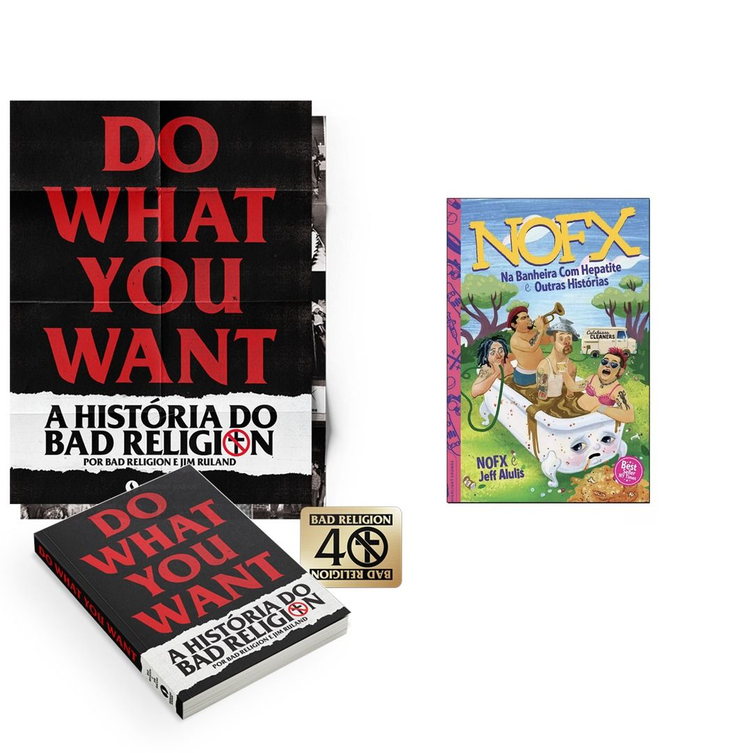 Combo: Bad Religion - Do What You Want - A História do Bad Religion + Livro NOFX