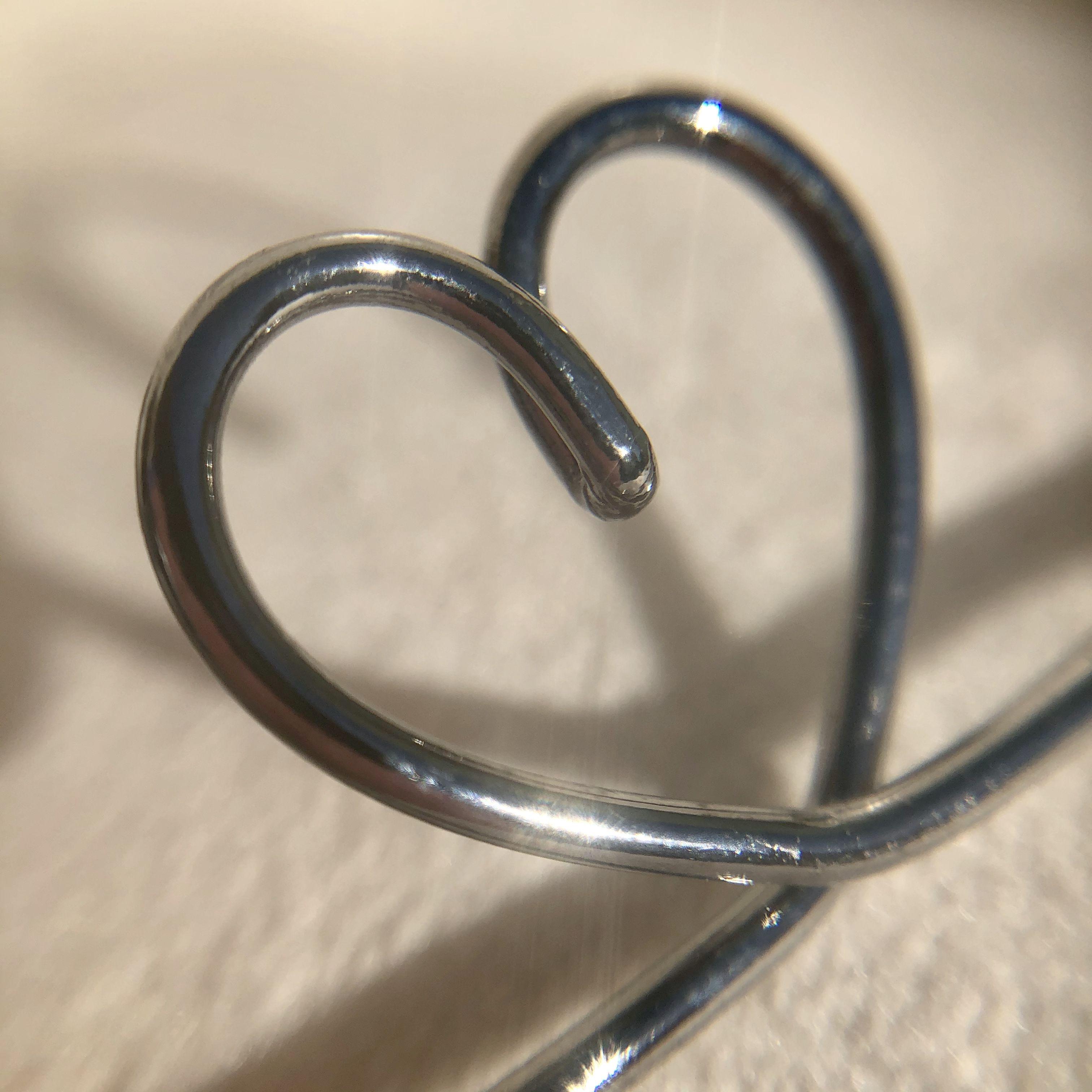 Pulseira Coração Liso Vazado