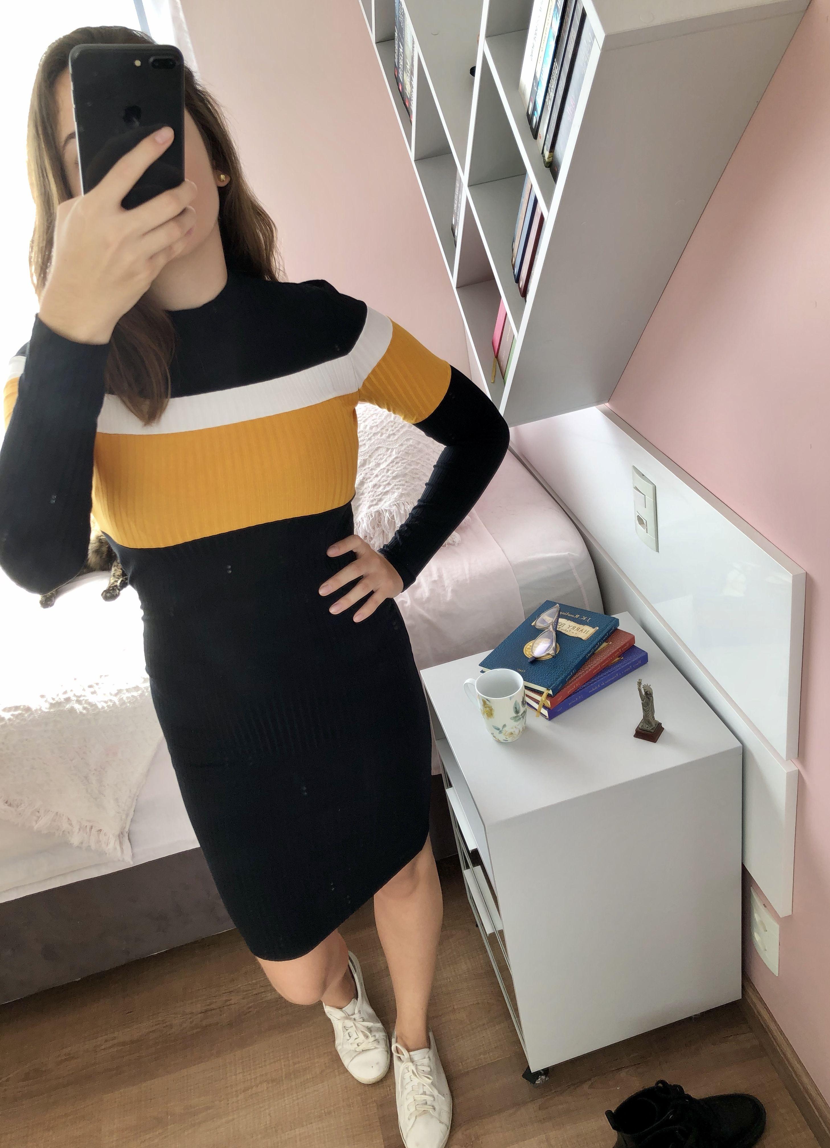 Vestido Canelado Tracy
