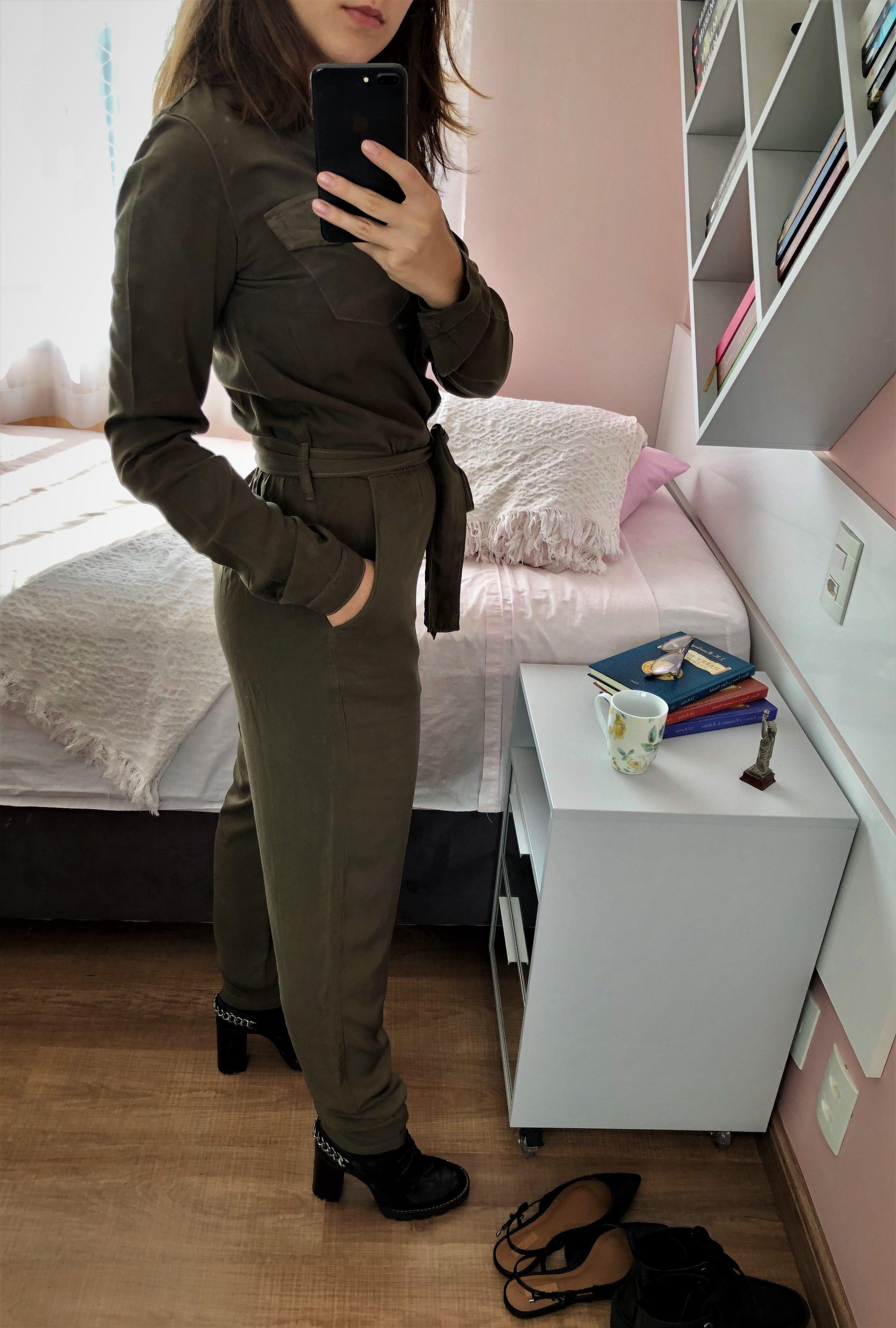Macacão Sarja Verde Militar