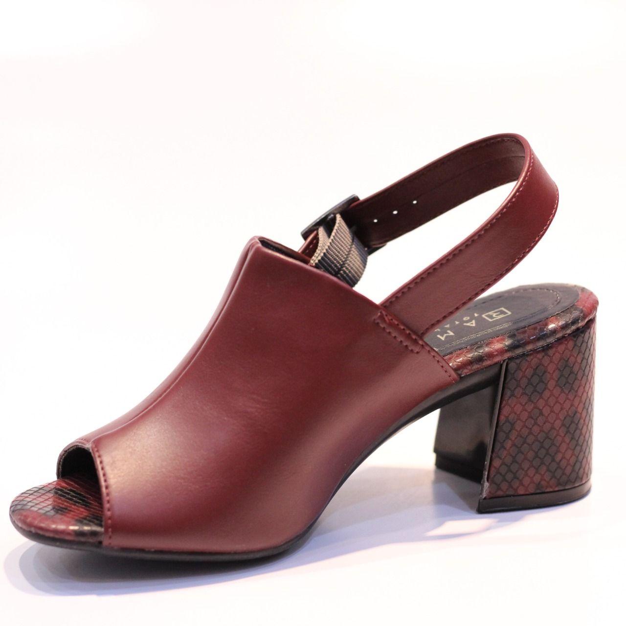Sandália Ramarim Open Boot Vinho
