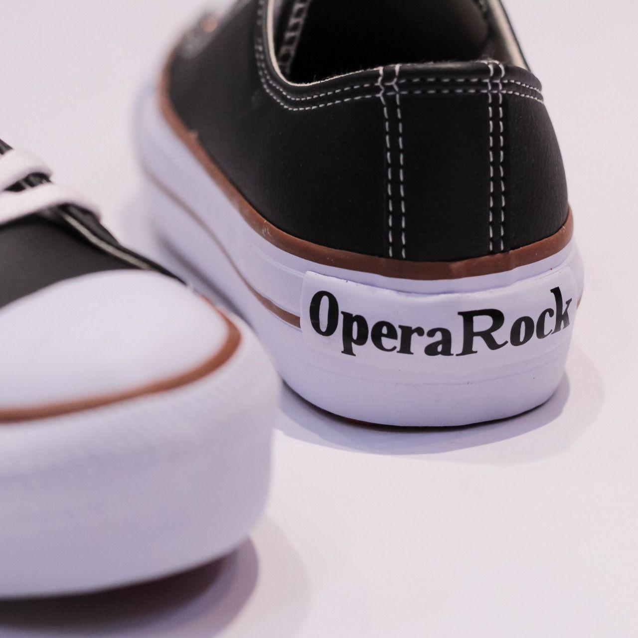 Tênis Opera Rock Napa Preto - OPY
