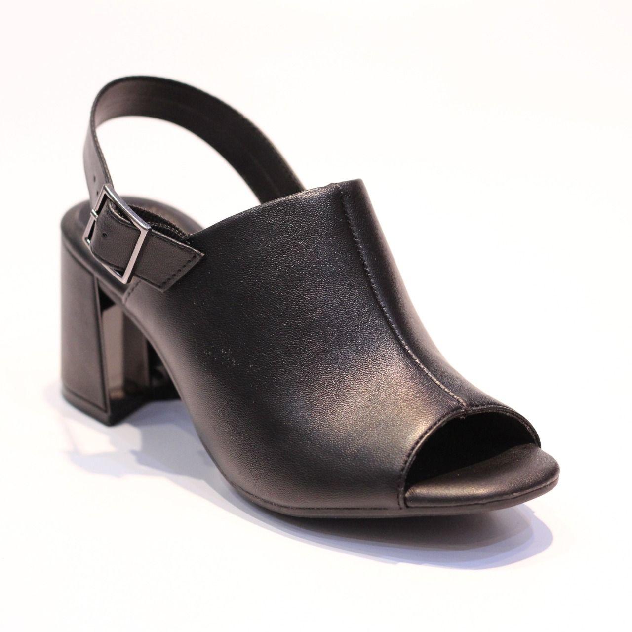 Sandália Ramarim Open Boot Preta