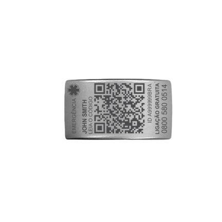 TAG QR My Safe avulsa (silver)