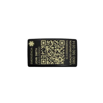 TAG QR My Safe avulsa (black)