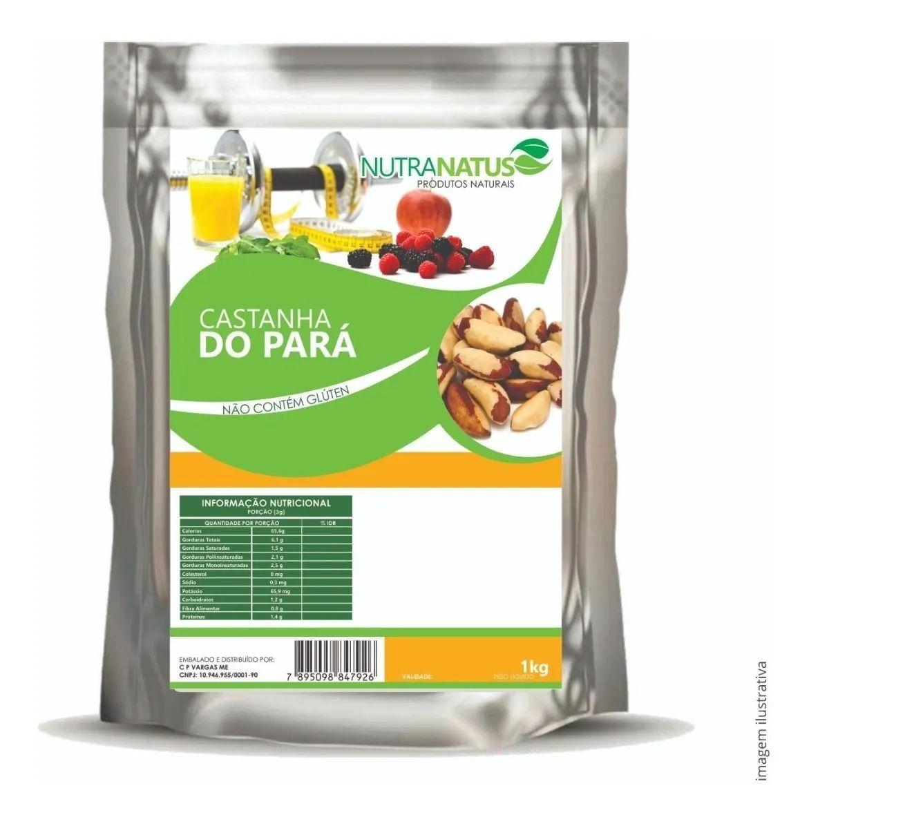 Castanha do Pará sem Casca 500g Inteira Média