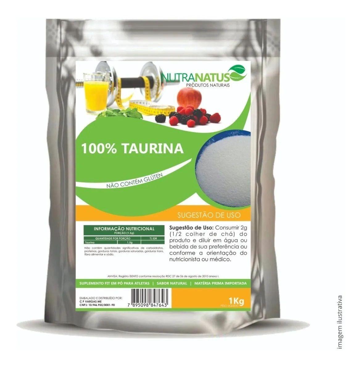 Taurina Pó Importada 1kg