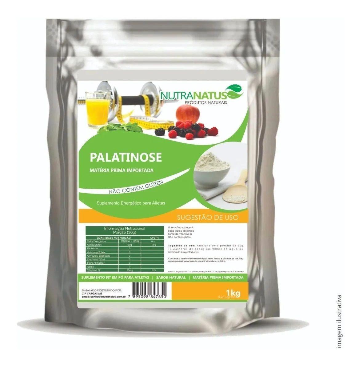 Palatinose Natural 1kg Pré Treino Importada