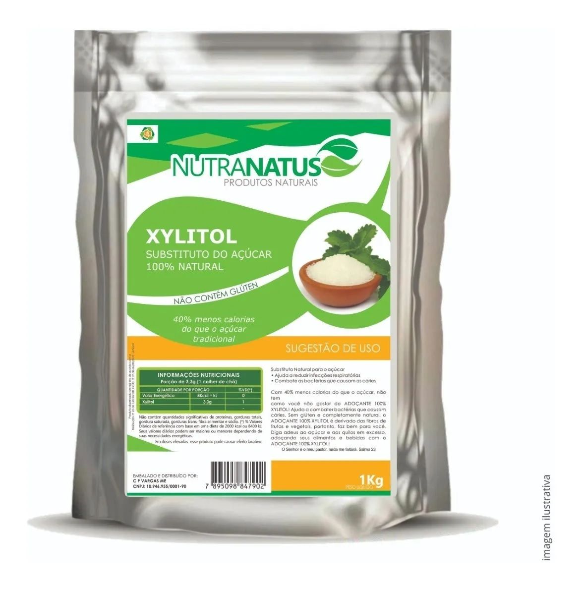 Farinha De Amêndoas 1kg + Xilitol 2kg