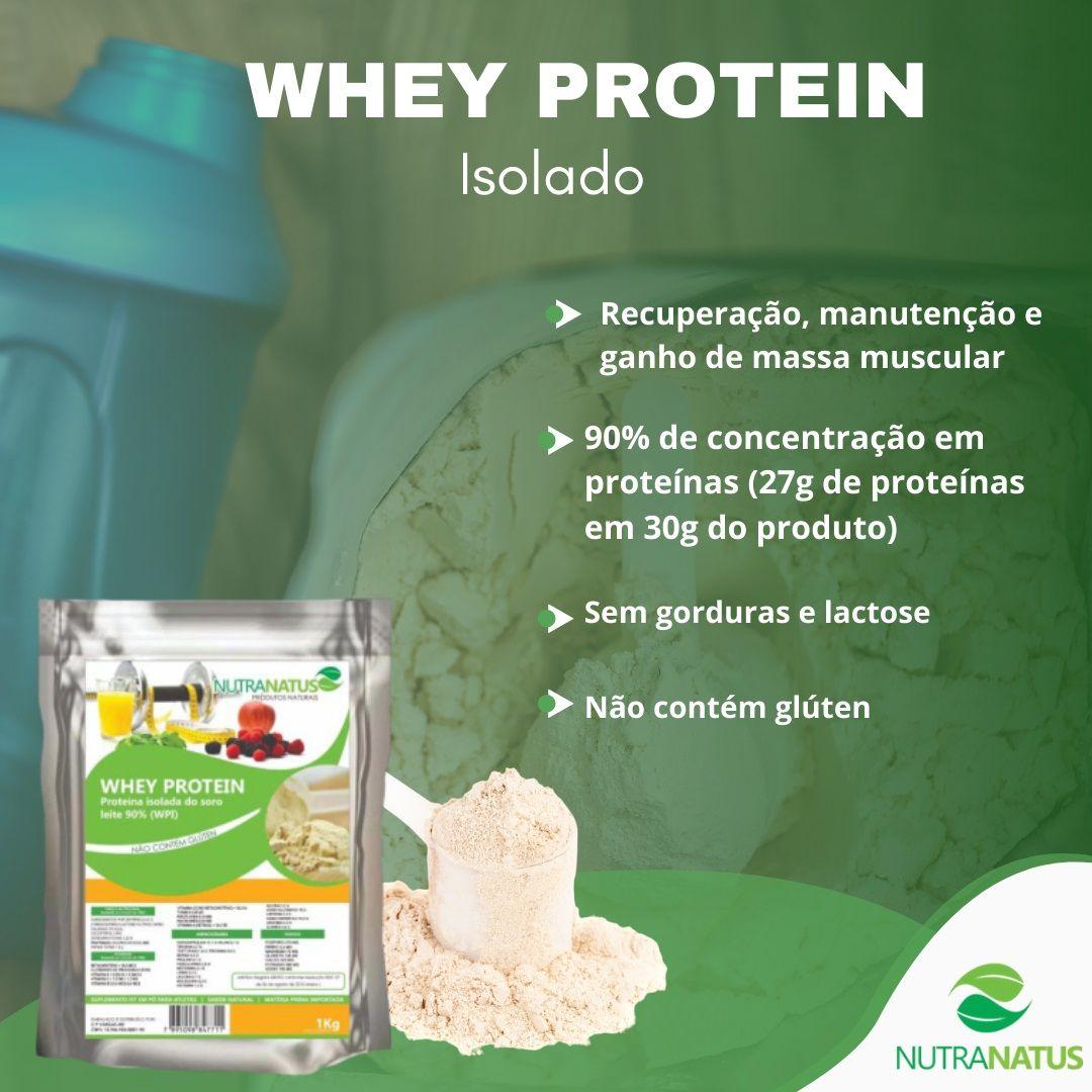 Whey Protein Isolado Importado (EUA) 1kg