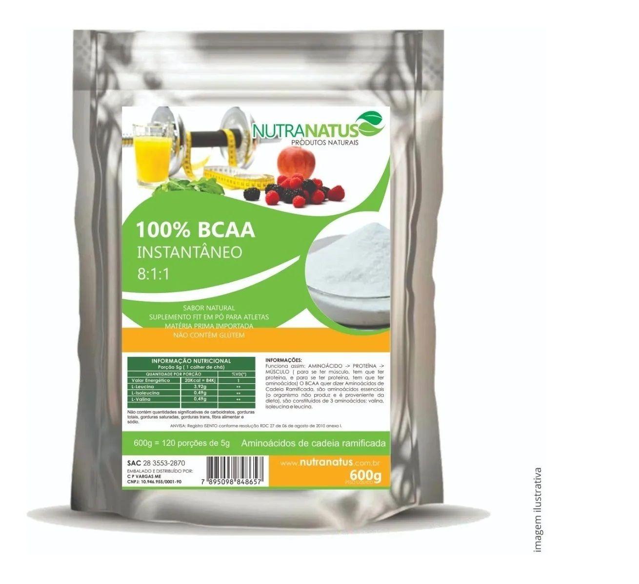 Combo Glutamina 600g + Bcaa 8:1:1 Instantâneo 600g