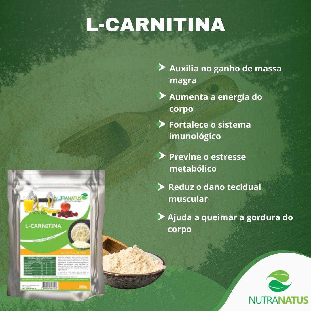L- Carnitina 200g Importada Termogênico