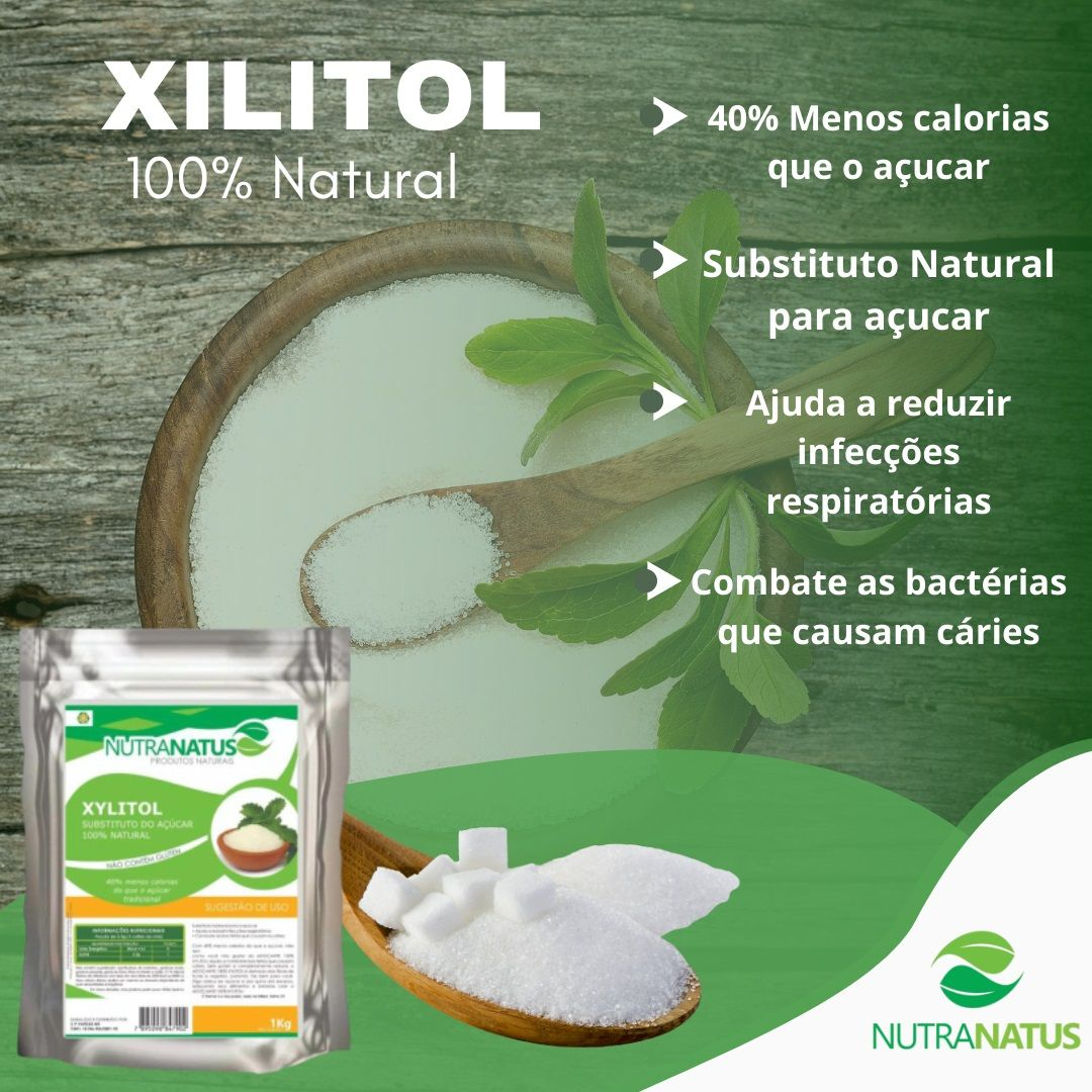 Xilitol Cristal Importado 3kg