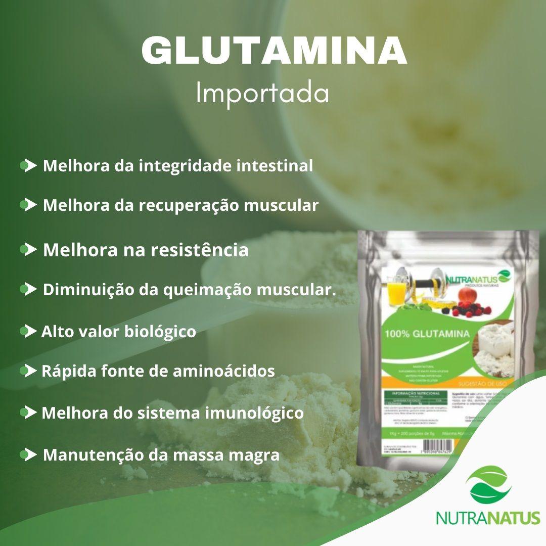 Aminoacido L-glutamina Pó Importada 1kg