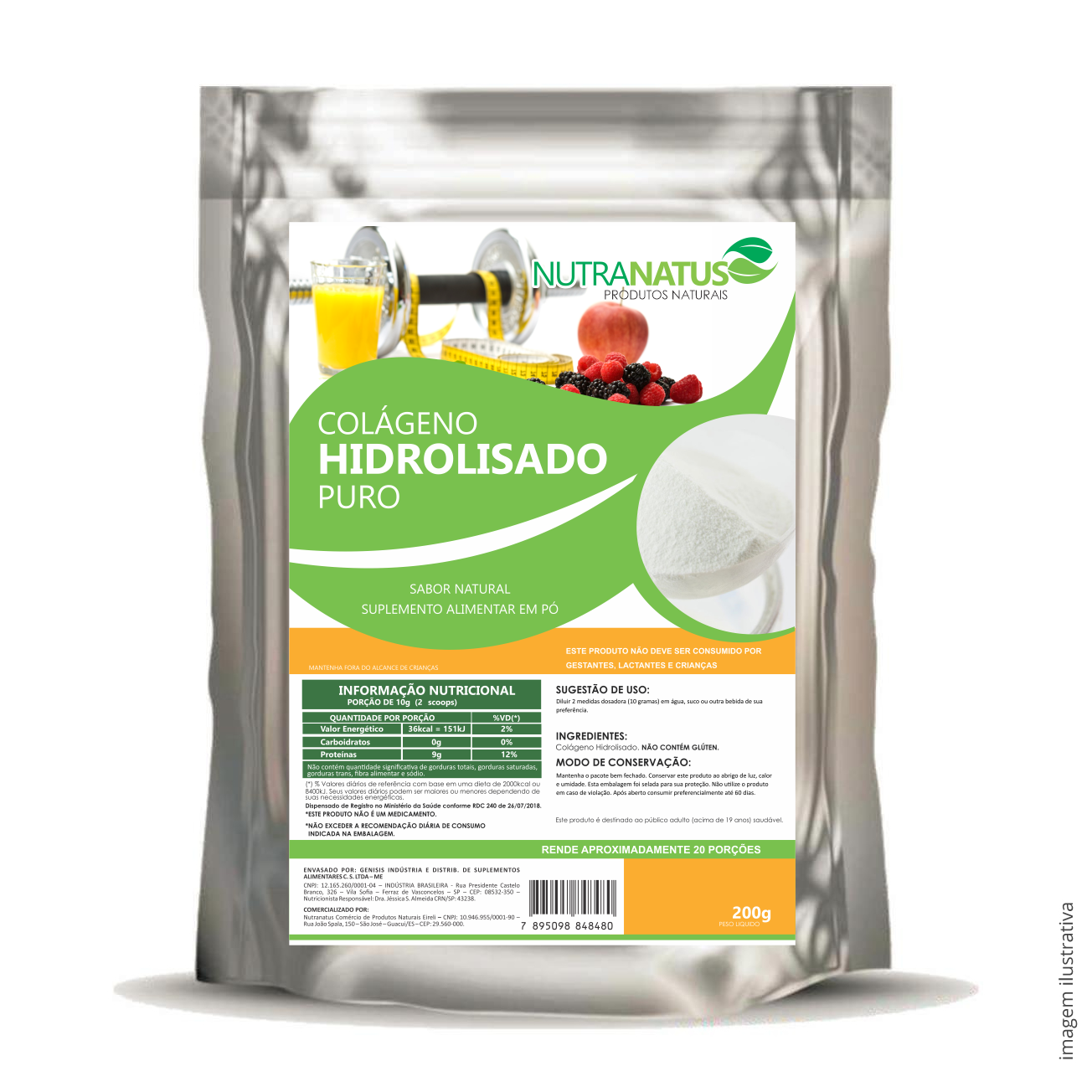 Colágeno Hidrolizado Puro 200g