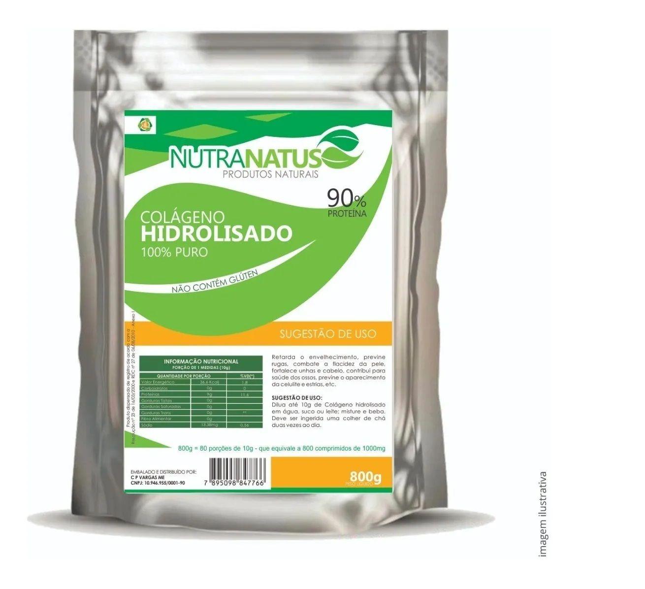Colageno Hidrolisado 800g Puro 90% Proteína