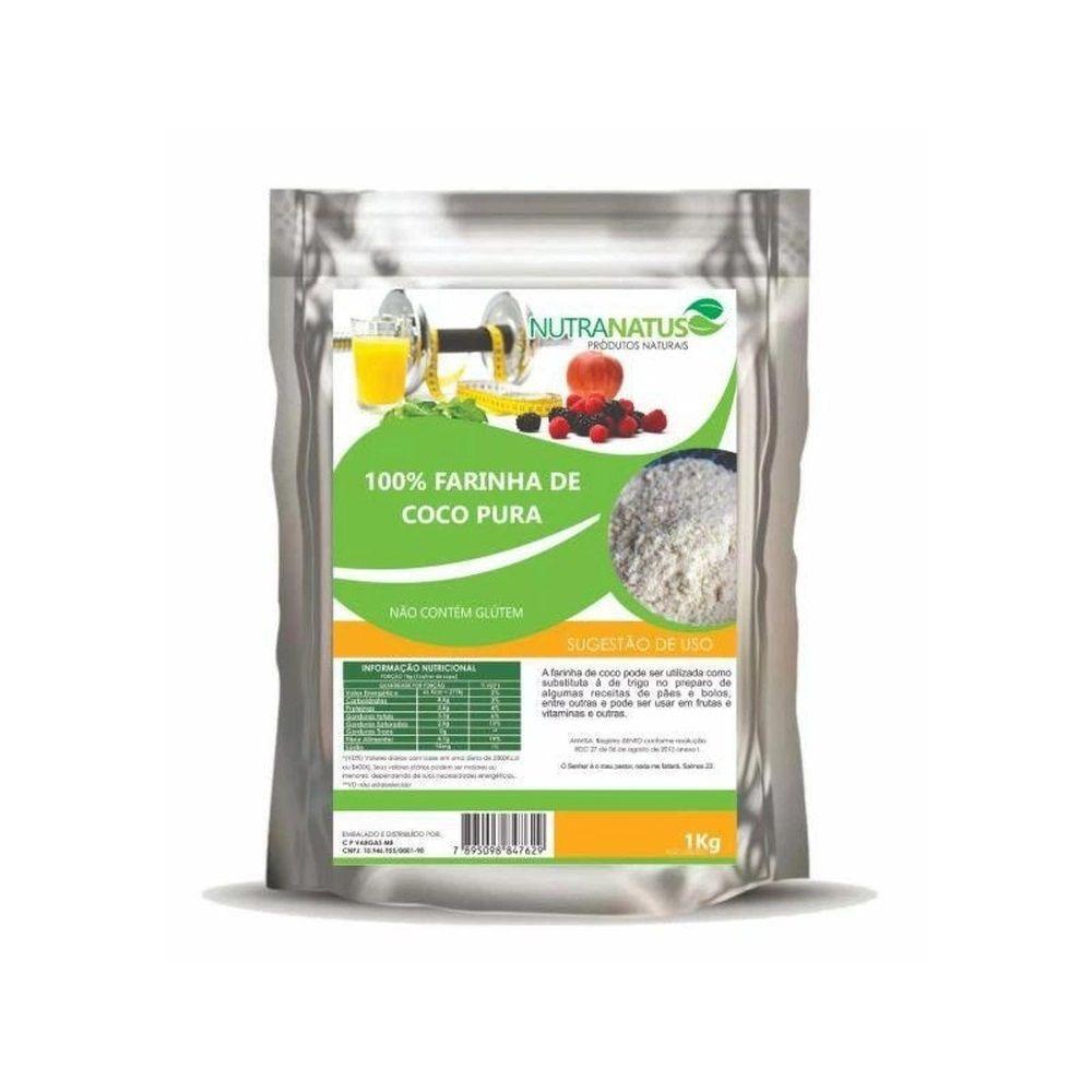 Farinha de Coco Pura e 100% Natural 1kg