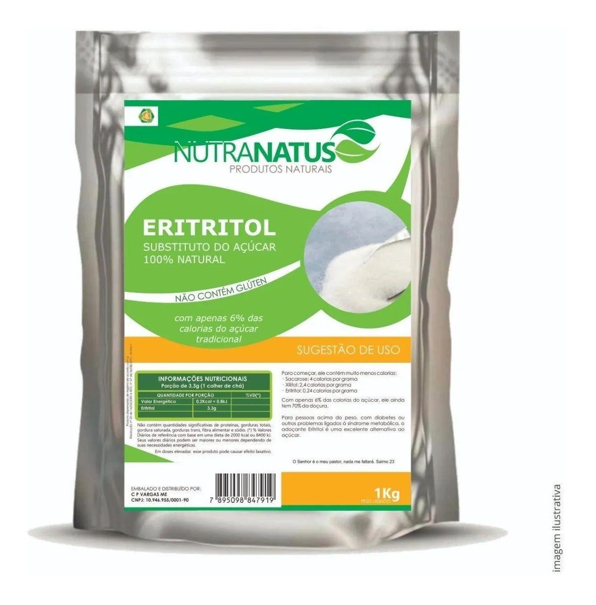 Eritritol Cristal 1kg Importado